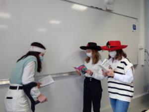 La classe de 5ème Bleue à l'école de Molière
